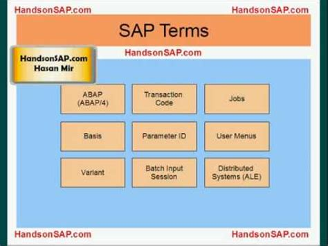 tutorial sap erp sap ecc erp tutorial sap terms part 1 of 10 youtube