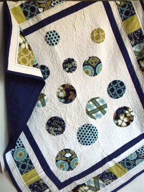Navy And White Quilt Navy Blue And White Circle Baby Quilt