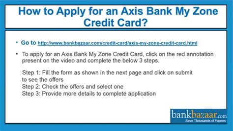 apply   axis bank  zone credit card youtube