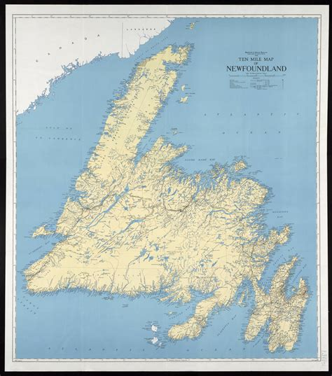 newfoundland map ten mile map of newfoundland centre for newfoundland studies digitized maps