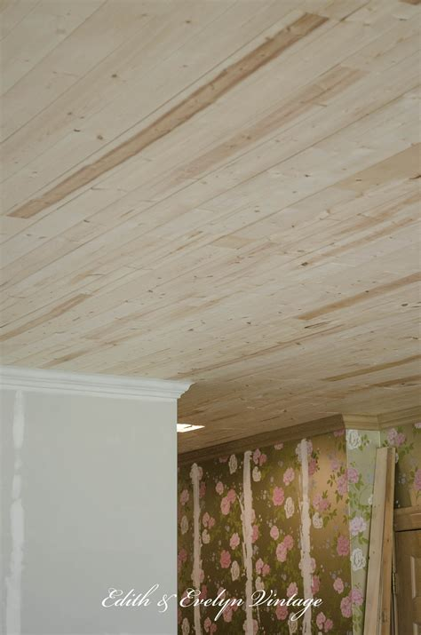 Thin Ceiling Planks by How To Plank A Popcorn Ceiling