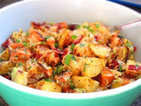 potato salad roasted garlic potato salad with bacon and green onions