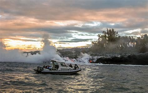 honolulu boat tours hawaii volcano boat tours continue after lava injuries