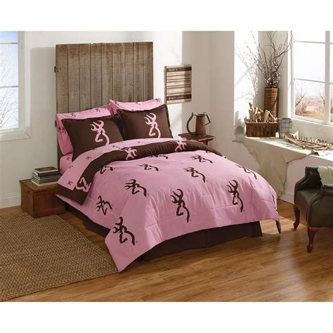 browning bedding set browning pink and brown complete bed set 655467