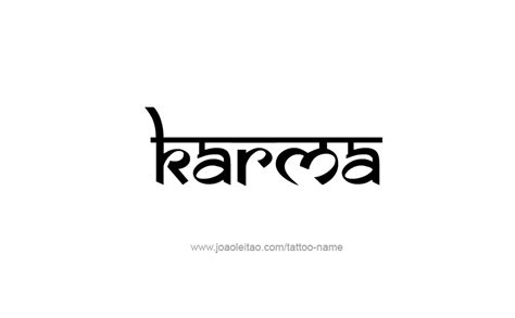 karma tattoos karma name designs karma designs and