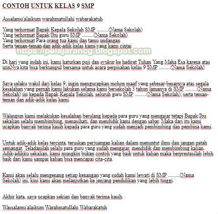 pelajaran bahasa indonesia contoh naskah pidato