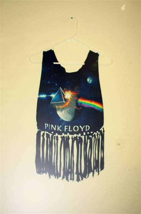 how to fringe and bead a shirt pink floyd fringe beaded t shirt cropped tank by
