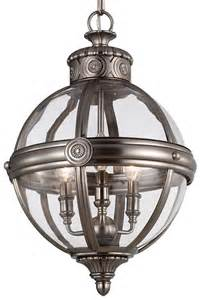 Circular Chandelier Lighting Feiss Adams Pendant Chandelier 3 Light Globe Lantern
