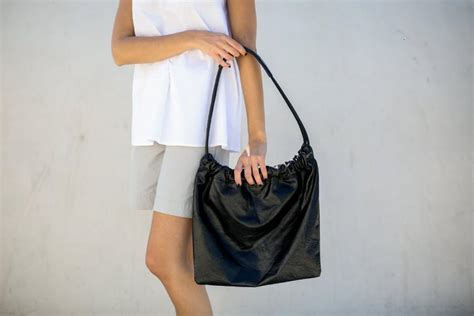 Bittersweet Shiny Medium Hobo by Leather Hobo Bag Medium Leather Bag Every Day Tote
