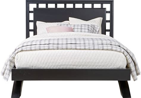 lattice headboard belcourt black 3 pc queen platform bed with lattice