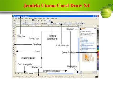corel draw x4 instalar jendela utama corel draw x4