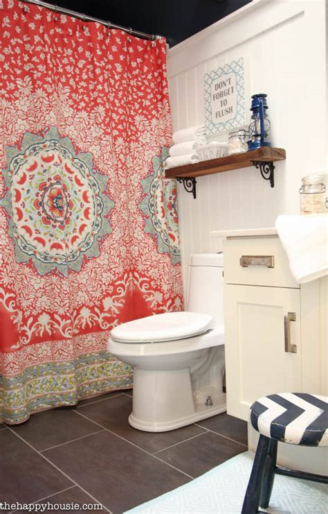 boho chic bathroom main bathroom makeover reveal the happy housie