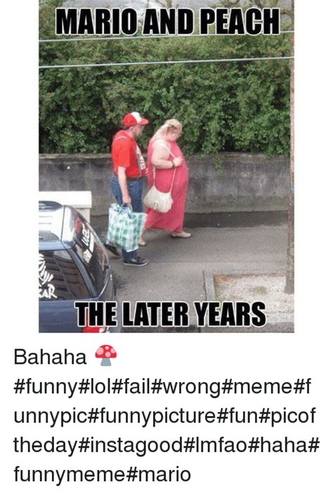 Meme Fail - mario and peach the later years bahaha