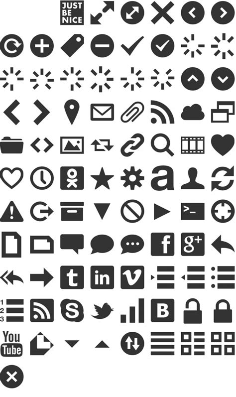 Symbols by Web Symbols Font Free By Just Be Nice Studio Font Squirrel