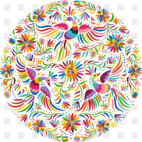 embroidery mexican mexican embroidery pattern vector image of