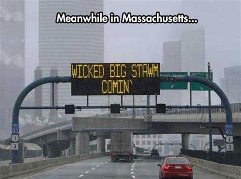 Massachusetts Meme - they have some strange signs outside of boston