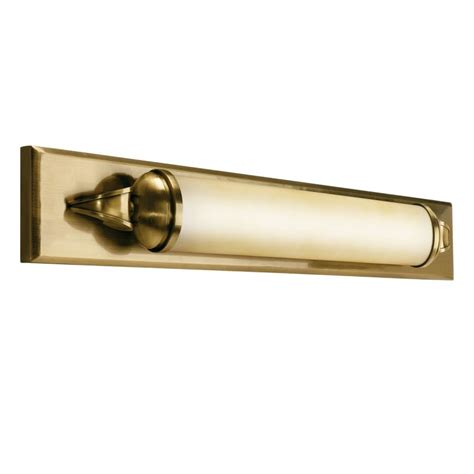 brass bathroom light fixtures kichler 10615ab antique brass pierson 36 quot wide single bulb