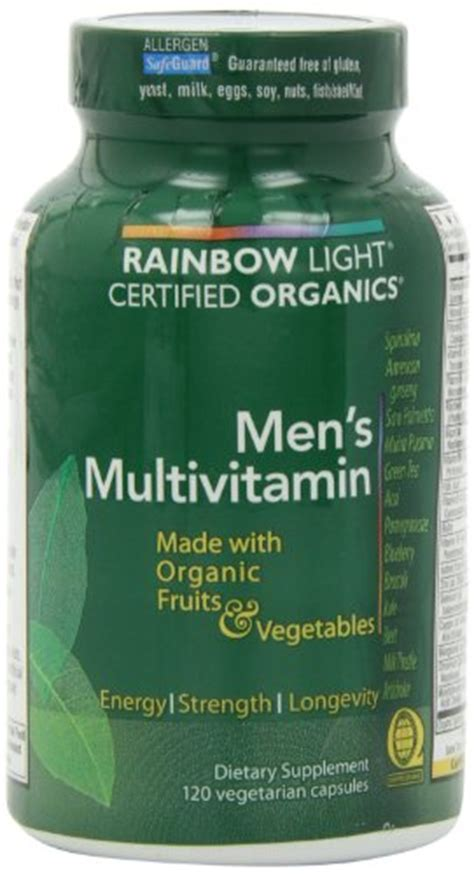 rainbow light certified men s multivitamin rainbow light men s organic multivitamin 120 count