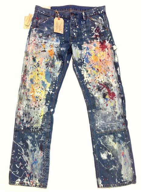 acrylic paint on denim denim supply ralph distress paint splatter