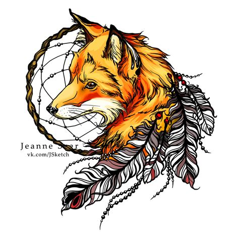 fox tattoo design fox by jeanne saar on deviantart
