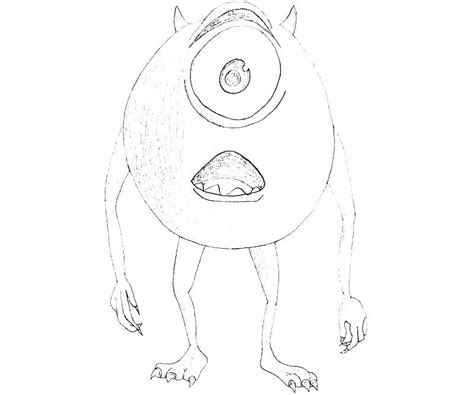 mike wazowski coloring pages