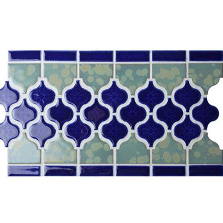 Border Blue Arabesque BCZB011, Mosaic tile, Ceramic mosaic