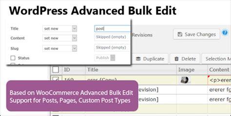 advanced layout editor wordpress plugin wp bulk editor bulk editing plugin for wordpress