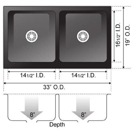 8 inch kitchen sink absolute black granite flat apron farm kitchen sink