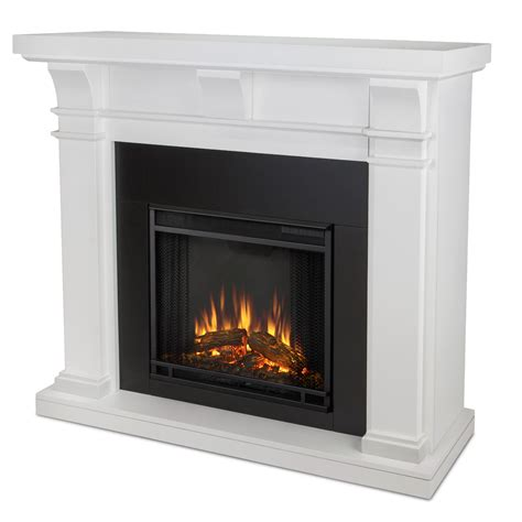 real porter electric fireplace in white
