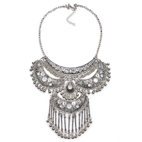 Bib Libby by 57 Boutique Jewelry Libby Silver Drop Fringe