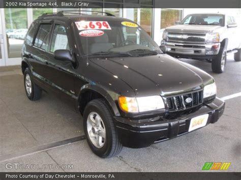 2002 Kia Sportage 4x4 Black 2002 Kia Sportage 4x4 Gray Interior Gtcarlot