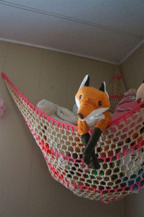 Storage Hammocks For Stuffed Animals pattern crochet stuffed animal hammock kid s room storage stuffed animal net