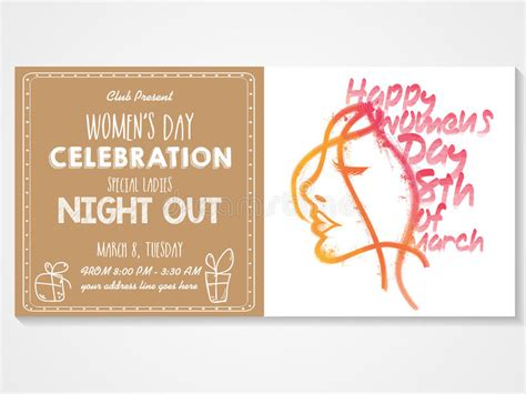 card invitations special day celebrations invitation card for s day celebration stock