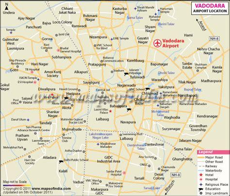 baroda map vadodara map