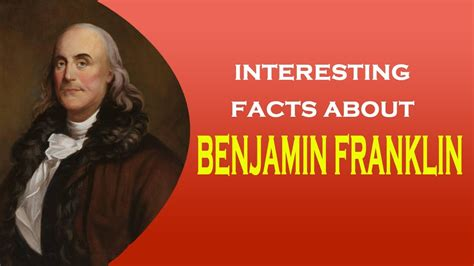 benjamin franklin biography youtube interesting facts about inventor of the lightning rod