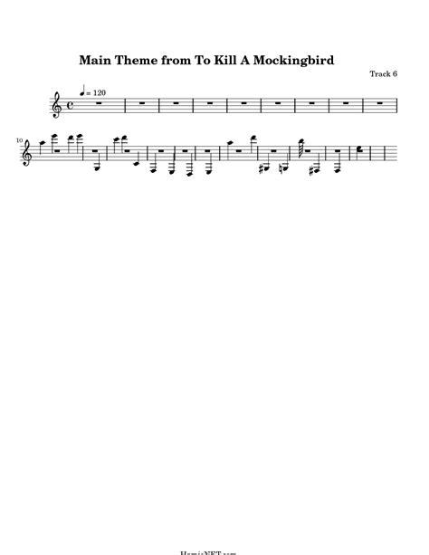 theme of to kill a mockingbird chapter 6 main theme from to kill a mockingbird sheet music main