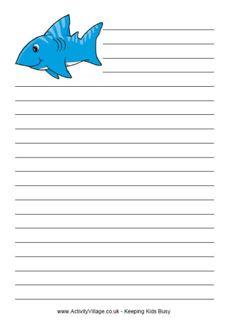shark writing paper valleyprogs