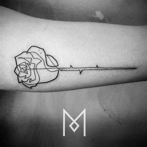 perfect rose tattoo 19 single line tattoos that are for minimalists