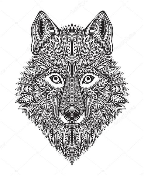 pattern and shape by kurt rowland cara de lobo y negro gr 225 fico dibujado a mano doodle