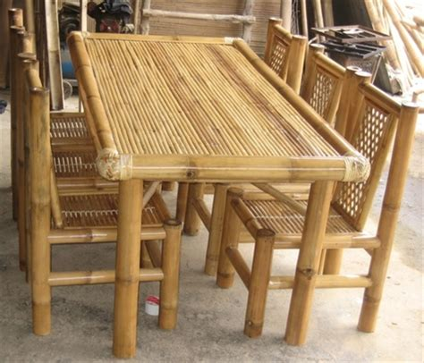 Dining Room Set Bamboo Optional Title Display