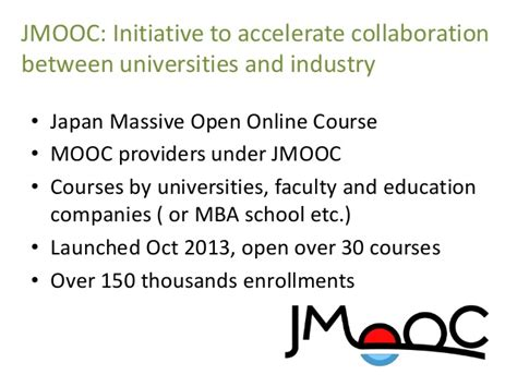 Mooc Mba Degree by Current Status Of Open Education In Japan