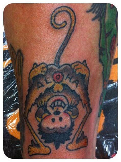 aloha monkey tattoo pin by all on tattoos by luke olczyk