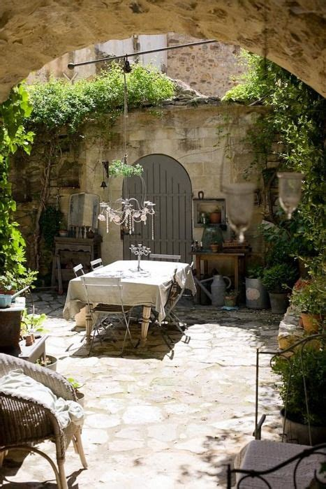 Tuscan Garden Decor Country Cottage Farmhouse Chic Pinterest Outdoor Living Outdoor Rooms And Outdoor