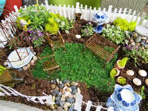 White Backyard Fence Pink And Green Mama Simple Fairy Garden For Kids