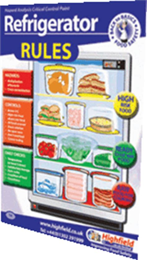 fridge layout poster poster 14 refrigerator rules highfield training