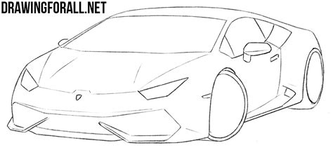 sports car drawing how to draw a sports car by drawingforall