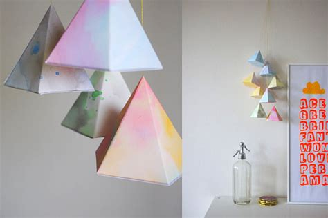 How To Make Geometric Shapes With Paper - three stylish decor ideas for a baby proof interior2014