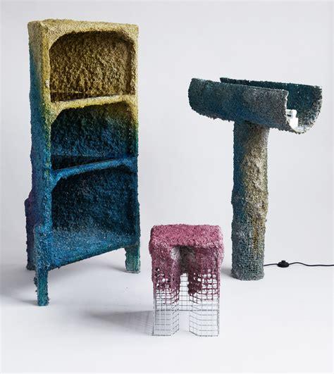 spray paint papier shaw creates furniture using spray guns