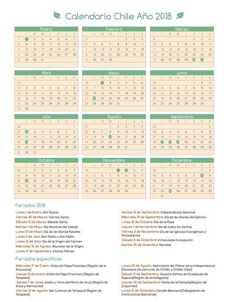 Chile Calend 2018 Calendario 2018 Chile Pdf 28 Images Calend 225 2018