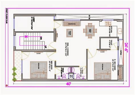 20x30 house plans 20 x 30 east facing duplex house plan